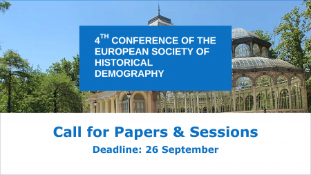 4TH CONFERENCE OF THE EUROPEAN SOCIETY OF HISTORICAL DEMOGRAPHY