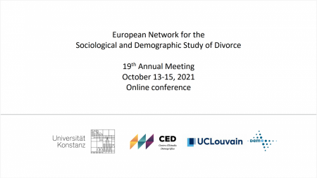 Call for Papers: Call for Papers: 19th Conference of the European Divorce Research Network